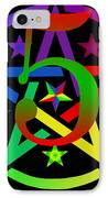 Penta Pentacle In Black IPhone Case