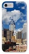 Philadelphia Blue Skies IPhone Case by Bill Cannon