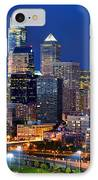 Philadelphia Skyline At Night IPhone Case by Jon Holiday