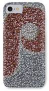 Philidelphia Phillies Baseballs Mosaic IPhone Case by Paul Van Scott