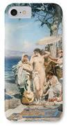 Phryne At The Festival Of Poseidon In Eleusin IPhone Case by Henryk Siemieradzki