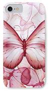 Pink Butterflies IPhone Case by Christina Meeusen