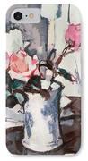 Pink Roses IPhone Case by Samuel John Peploe
