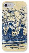 Pirate Ship Artwork - Vintage IPhone Case