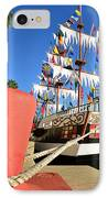 Pirates In Harbor IPhone Case by David Lee Thompson