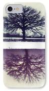 Polaroid Transfer Tree IPhone Case by Jane Linders