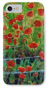 Poppies And Traverses 1 IPhone Case