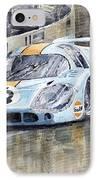 Porsche 917 Lh 24 Le Mans 1971 Rodriguez Oliver IPhone Case by Yuriy  Shevchuk