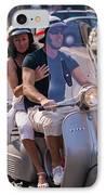 Portofino Scooter Couple IPhone Case by Neil Buchan-Grant