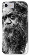 Portrait Of An Australian Aborigine IPhone Case by Avalon Fine Art Photography