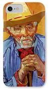 Portrait Of Patience Escalier IPhone Case by Vincent van Gogh