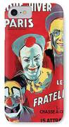 Poster Advertising The Fratellini Clowns IPhone Case