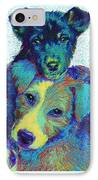 Pound Puppies IPhone Case by Jane Schnetlage