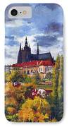 Prague Castle With The Vltava River IPhone Case