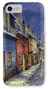 Prague Golden Line Winter IPhone Case