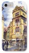 Prague Karlova Street Hotel U Zlate Studny IPhone Case