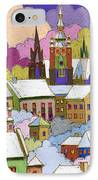 Prague Old Roofs Prague Castle Winter IPhone Case by Yuriy  Shevchuk