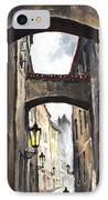 Prague Old Street 02 IPhone Case by Yuriy  Shevchuk