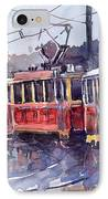 Prague Old Tram 01 IPhone Case by Yuriy  Shevchuk