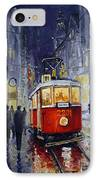 Prague Old Tram 06 IPhone Case