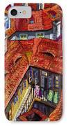 Prague Roofs 01 IPhone Case by Yuriy  Shevchuk