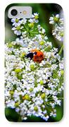 Pretty Little Ladybug IPhone Case by Mariola Bitner