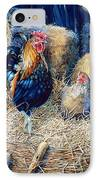 Prized Rooster IPhone Case by Hanne Lore Koehler