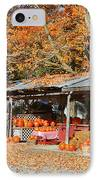Pumpkins For Sale IPhone Case by Louise Heusinkveld