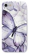 Purple Butterflies IPhone Case by Christina Meeusen