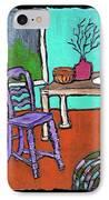Purple Chair IPhone Case