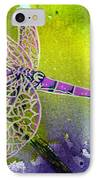 Purple Dragonfly IPhone Case