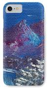 Purple Mountain Landscape IPhone Case by Jera Sky