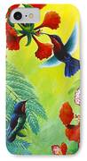 Purple-throated Caribs And Flamboyant IPhone Case
