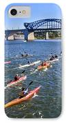 Race On The River IPhone Case by Tom and Pat Cory