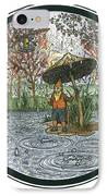 Rain Gnome Rain Circle IPhone Case
