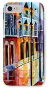 Rain On Royal Street IPhone Case by Diane Millsap