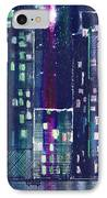 Rainy Night In The City IPhone Case by Arline Wagner
