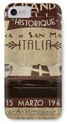 Rally Italia IPhone Case by Cinema Photography
