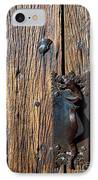 Rattlesnake Door Handle Mission San Xavier Del Bac IPhone Case by Thomas R Fletcher