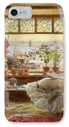 Reading By The Window IPhone Case by Charles James Lewis
