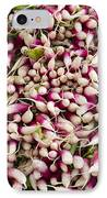 Red And White Radishes IPhone Case by John Trax