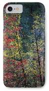 Red And Yellow Leaves Abstract Vertical Number 2 IPhone Case by Heather Kirk