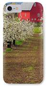 Red Barn Avenue IPhone Case by Mike  Dawson