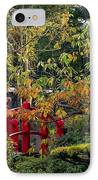 Red Bridge & Japanese Lantern, Autumn IPhone Case by The Irish Image Collection