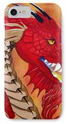 Red Dragon IPhone Case by Debbie LaFrance