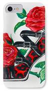 Red Leopard Roses IPhone Case by Karon Melillo DeVega