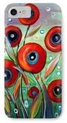 Red Poppies In Grass IPhone Case