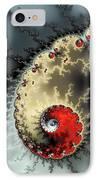 Red Yellow Grey And Black - Amazing Mandelbrot Fractal IPhone Case