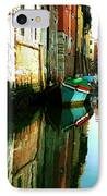 Reflection Of The Wooden Boat IPhone Case