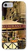 Restaurant In Budapest IPhone Case by Madeline Ellis